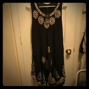 Dresses & Skirts - Black ethnic dress/cover up